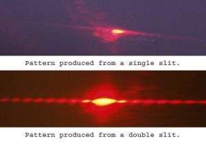 Double-slit experiment results. Image by Patrick Edwin Moran