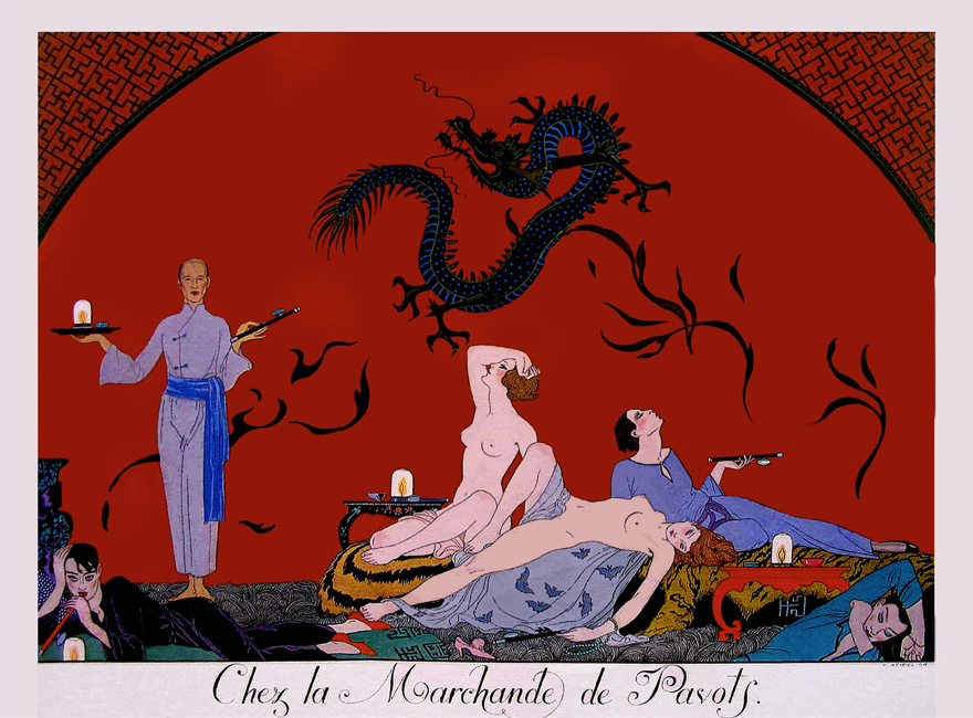 The House of the Poppy Merchant, by Georges Barbier (photo by @UnklNik on Flickr)