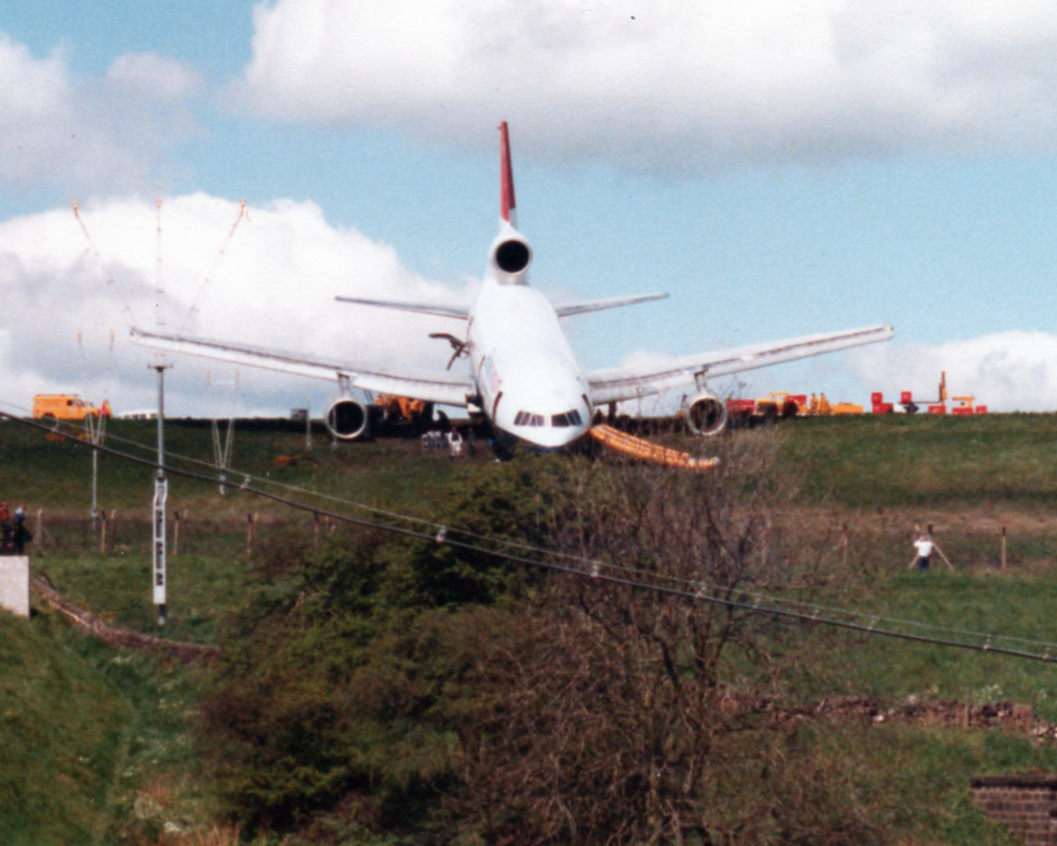 G-BBAI overshot the runway in 1985.