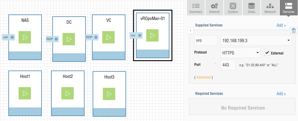 vRO Services Configuration