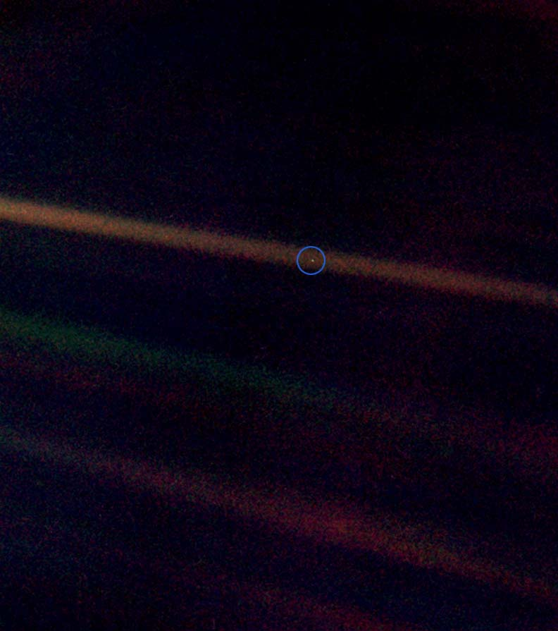 """PaleBlueDot"" by NASA - NASA. Licensed under Public Domain via Commons"
