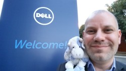 Blue Cow and I at DellWorld 2015