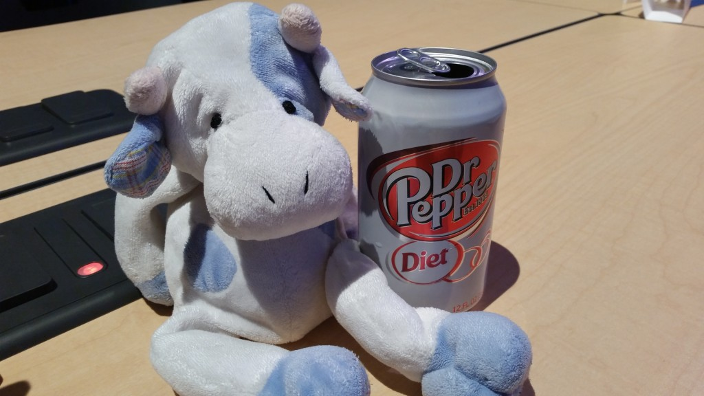Blue Cow and Dr Pepper