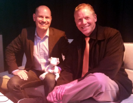 Scott Dietzen, CEO of Pure Storage, with Blue Cow
