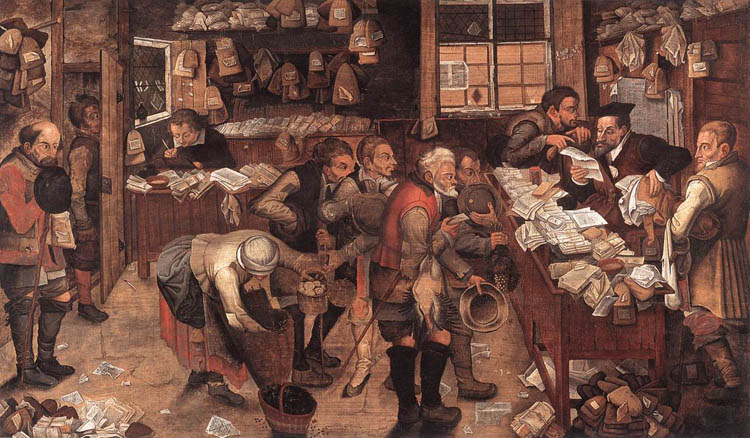 The Village Lawyer, c. 1621, by Pieter Brueghel the Younger