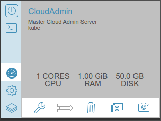 Cloud admin server config