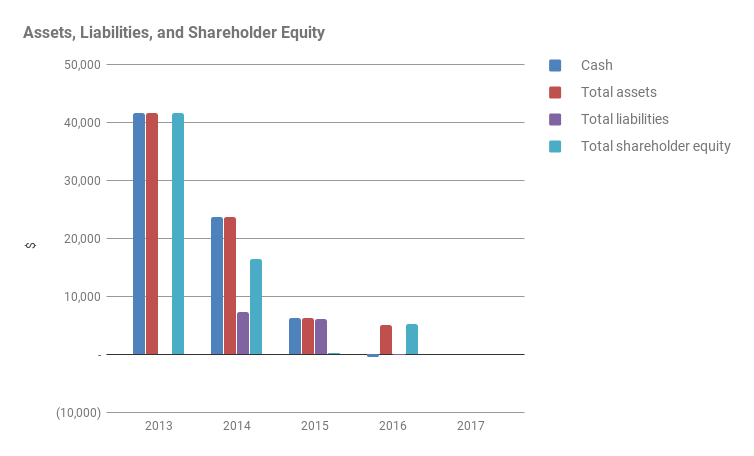 Assets, Liabilities, and Shareholder Equity for EFA for FY2012-13 to FY2015-16
