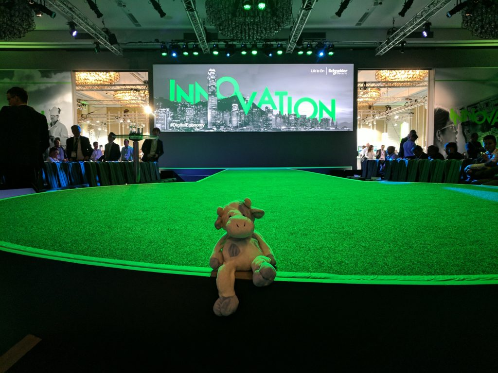 Blue Cow at the Schneider Electric Innovation Summit in Hong Kong, September 2017