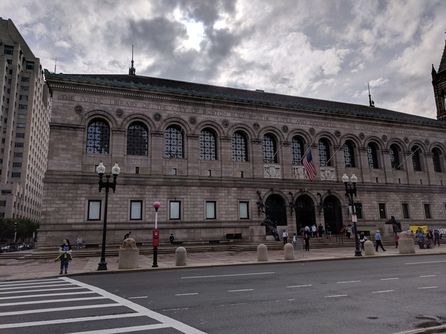 Central Boston Public Library, 21 May 2018 (Photo by Justin Warren)