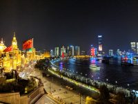 A view of The Bund in downtown Shanghai, China. November 2018.