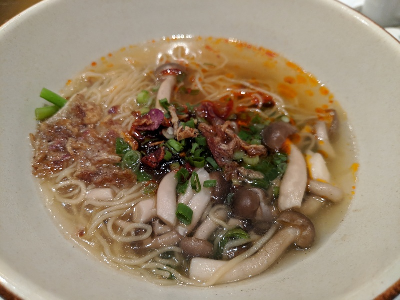 Chilli noodle soup for breakfast at Grand Hyatt KL