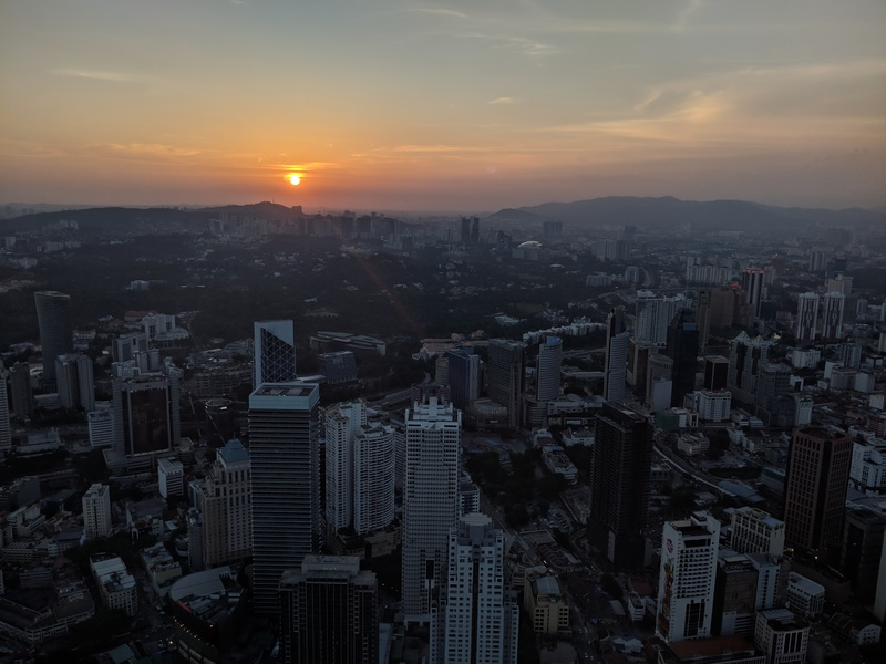 Sunset over KL, from Atmosphere 360 restaurant at the KL Tower