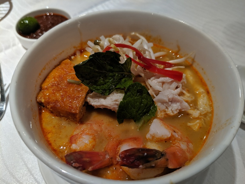 Curry Laksa in the Malaysia Airlines Golden Lounge at KLIA