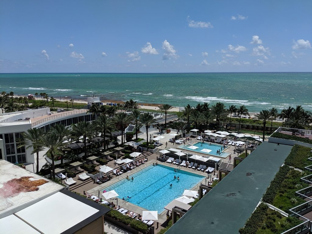 The view from the balcony off my room at the Eden Roc hotel, Miami, FL