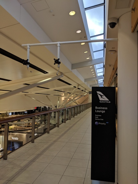 Missing facial recognition cameras outside the Qantas SYD international lounges.